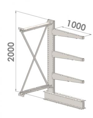Konsoolriiul lisaosa 2000x1500x1000,4 korrust
