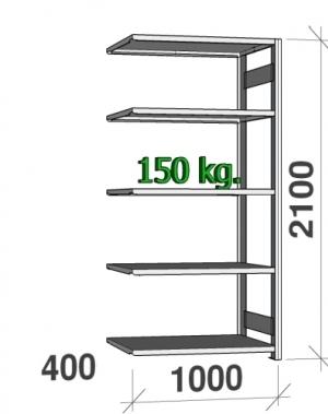 Laoriiul lisaosa 2100x1000x400 150kg/riiuliplaat,5 plaati