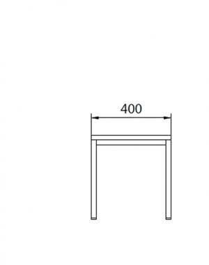Istepink metallist kattega 400x290x420