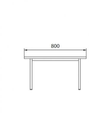 Istepink metallist kattega 800x290x420