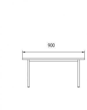 Istepink metallist kattega 900x290x420