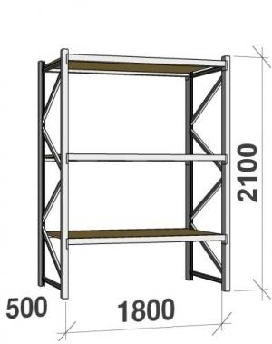 Laoriiul põhiosa 2100x1800x500 480kg/tasapind,3 PLP tasapinda