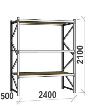Laoriiul põhiosa 2100x2400x500 300kg/tasapind,3 PLP tasapinda