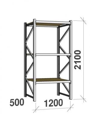 Laoriiul põhiosa 2100x1200x500; 600kg/tasapind,3 PLP tasapinda