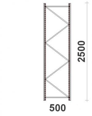 Frame H2500xD500 mm 55*47*1,5