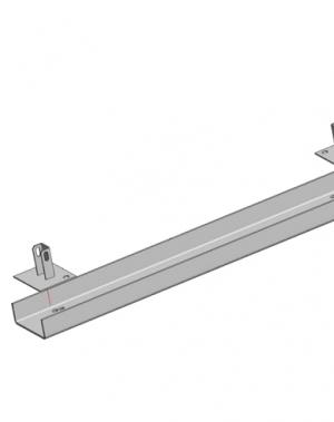 Relss külgraamile L=1100 mm; 160x60x5