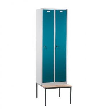 Metallist riidekapp 2x300 pingiga 610x810x2090