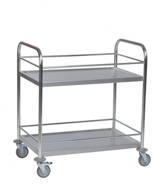 Stainless border trolley 910x590x940mm, 100kg
