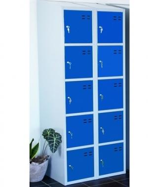 Sektsioonkapp, 10-ust, sinine/hall, 1920x700x550