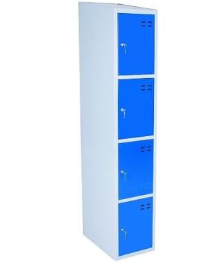 Sektsioonkapp, 4-ust, sinine/hall 1920x350x550