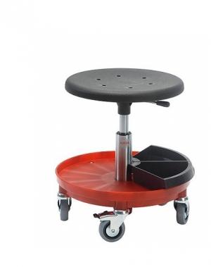 Taburet Sigma 400P ratastega, kõrgus 370-500 mm