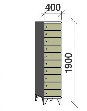 Sektsioonkapp, 10 ust, 1900x400x545 mm