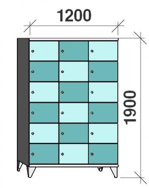 Sektsioonkapp, 18 ust, 1900x1200x545 mm
