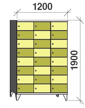 Sektsioonkapp, 24 ust, 1900x1200x545 mm