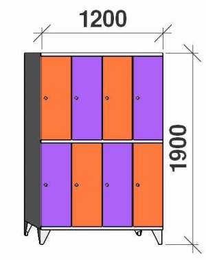 Sektsioonkapp, 8 ust, 1900x1200x545 mm