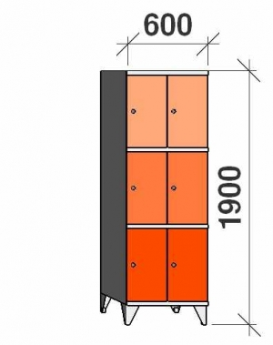 Sektsioonkapp, 6 ust, 1900x600x545 mm