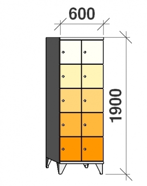 Sektsioonkapp, 10 ust, 1900x600x545 mm