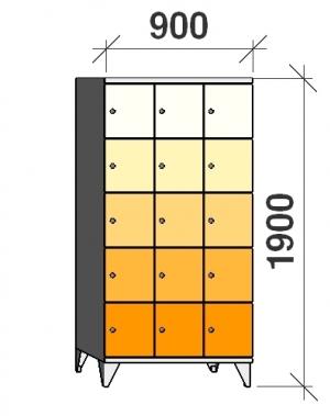 Sektsioonkapp, 15 ust, 1900x900x545 mm