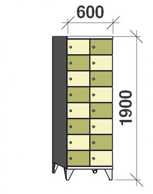 Sektsioonkapp, 16 ust, 1900x600x545 mm