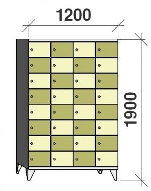 Sektsioonkapp, 32 ust, 1900x1200x545 mm