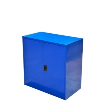 Tool cabinet 2 shelves 900x800x400 blue unmount, collapsible