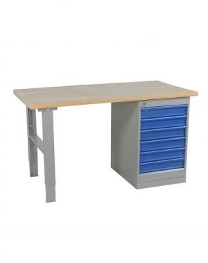 Töölaud 1600x800 6-osalise sahtlikapiga, puitkiudplaat