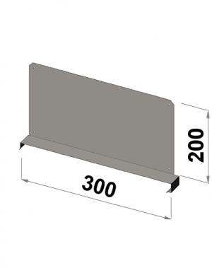 Riiuli vahejagaja 300x200 zn