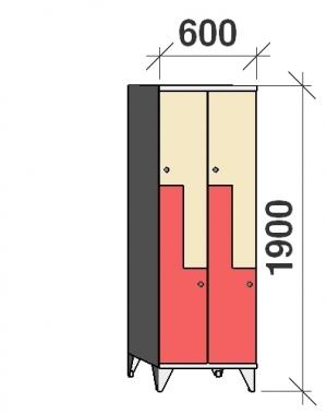 Z-kapp 1900x600x545, 4 ust