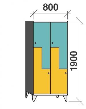 Z-kapp 1900x800x545, 4 ust