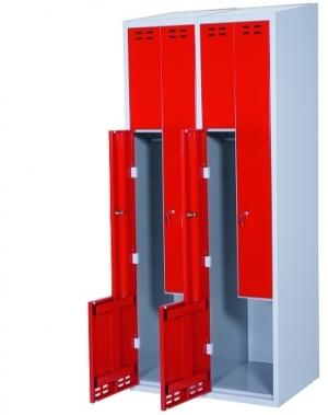 Z- metallkapp, 4 ust, 1920x800x550, punane/hall