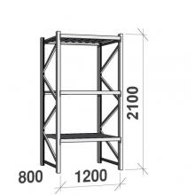 Laoriiul põhiosa 2100x1200x800 600kg/tasapind,3 tsinkplekk tasapinda