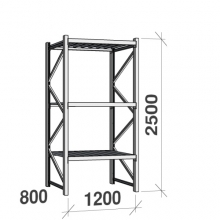 Maxi starter bay 2500x1200x800 600kg/level,3 levels with steel decks