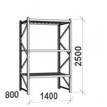 Laoriiul põhiosa 2500x1400x800 600kg/tasapind,3 tsinkplekk tasapinda