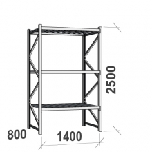 Maxi starter Bay 2500x1400x800 600kg/level,3 levels with steel decks