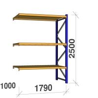 Lisaosa 2500x1790x1000 360kg/tasapind, 3 puitlaastplaadist tasapinda