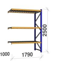 Lisaosa 2500x1790x1000 360kg/tasapind, 3 tsinkplekk tasapinda