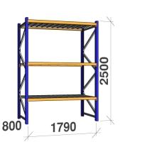 Põhiosa 2500x1790x800 360kg/tasapind, 3 tsinkplekk tasapinda