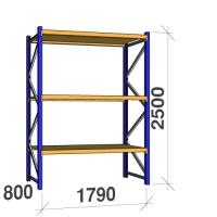 Põhiosa 2500x1790x800 360kg/tasapind, 3 puitlaastplaadist tasapinda