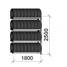 Rehviriiul, jätkuosa 2500x1800x500, 4 korrust, 480kg/tasapind