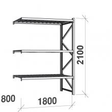 Laoriiul jätkuosa 2100x1800x800 480kg/tasapind,3 tsinkplekk tasapinda