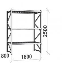 Maxi starter Bay 2500x1800x800 480kg/level,3 levels with steel decks