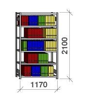 Arhiiviriiul põhiosa 2100x1170x400 150kg/riiuliplaat,6 plaati