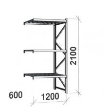 Laoriiul jätkuosa 2100x1200x600 600kg/tasapind,3 tsinkplekk tasapinda