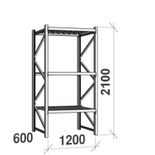 Laoriiul põhiosa 2100x1200x600 600kg/tasapind,3 tsinkplekk tasapinda