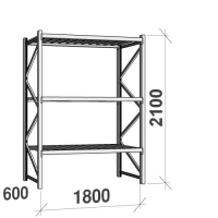 Laoriiul põhiosa 2100x1800x600 480kg/tasapind,3 tsinkplekk tasapinda
