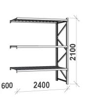Laoriiul jätkuosa 2100x2400x600 300kg/tasapind,3 tsinkplekk tasapinda