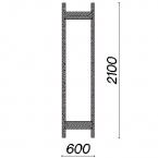 Side frame 2100x600