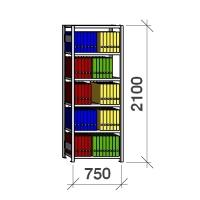 Arhiiviriiul põhiosa 2100x750x300 200kg/riiuliplaat,6 plaati