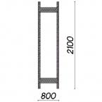 Side frame 2100x800