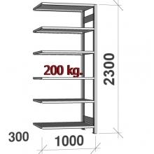 Laoriiul lisaosa 2300x1000x300 200kg/riiuliplaat,6 plaati